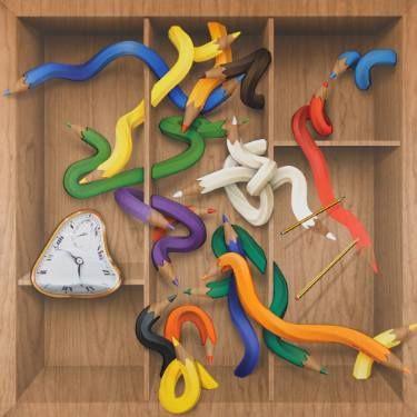 "Saatchi Art Artist Adrià Pina; Painting, ""Capsa per a Dalí 03"" #art"