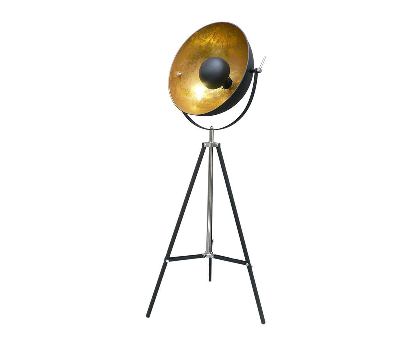 very cool black and gold floor lamp in a vintage loft style