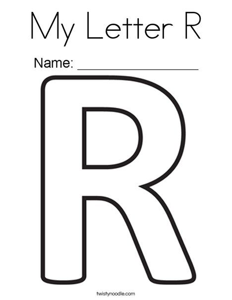My Letter R Coloring Page Twisty Noodle Lettering Letter R