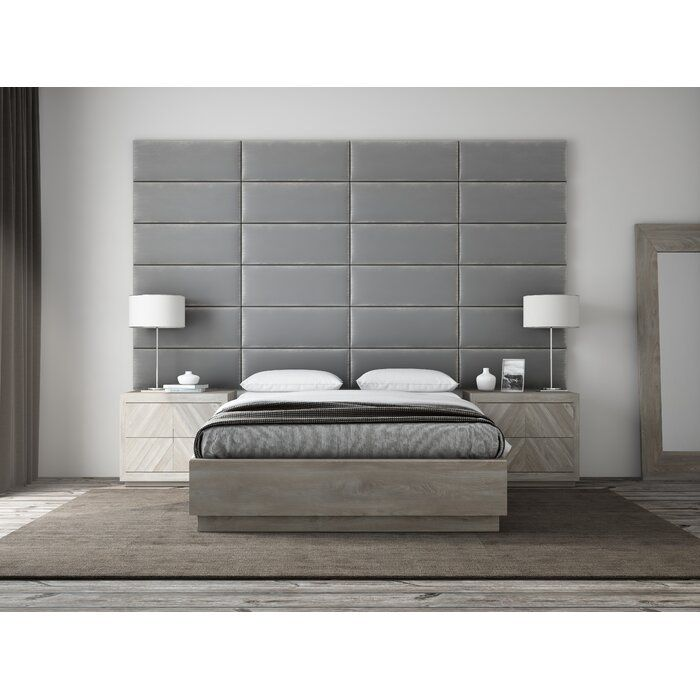 Bernardsville Upholstered Panel Headboard In 2020