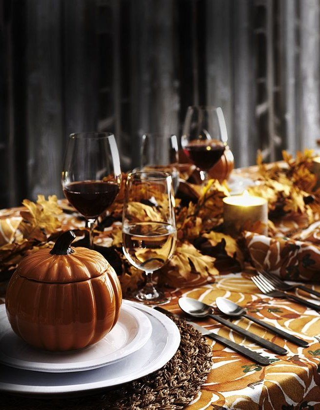Thanksgiving Table Setting Ideas Crate And Barrel Thanksgiving Table Settings Thanksgiving Table Thanksgiving Dinner Table