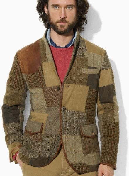 Surgery inch Inform  Polo Ralph Lauren Brown Tweed Patchwork Sport Coat for men | Dapper mens  fashion, Mens outfits, Mens coats