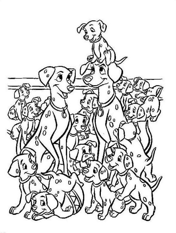 Dibujo Para Colorear 101 Dalmatas 01 Paginas Para Colorear Disney Dibujos Para Colorear Disney Dibujos Para Colorear