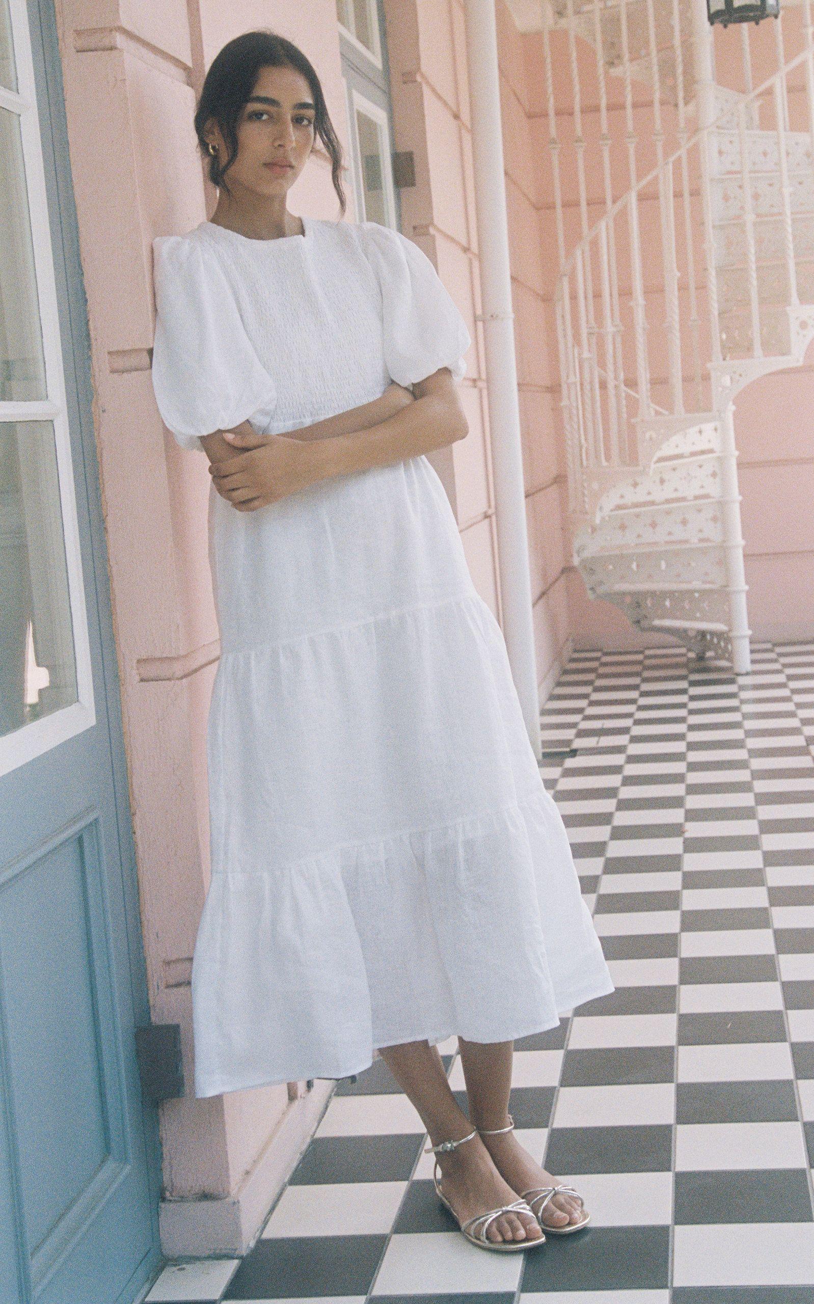 Faithfull The Brand Alberte Tiered Linen Midi Dress In 2021 Faithfull The Brand Linen Midi Dress Midi Dress [ 2560 x 1598 Pixel ]
