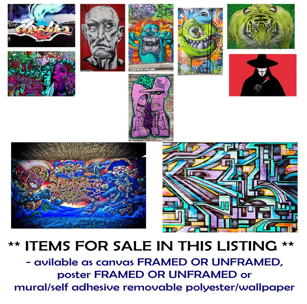 Graffiti art for sale melbourne - Details About Graffiti Melbourne Vandal Art Canvas Prints Framed Unframed Posters Murals