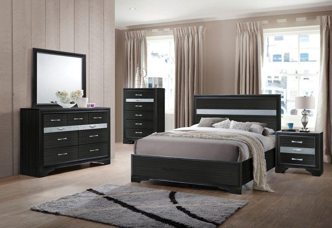 Best Mccreary Storage Standard Bed Bedroom Sets Black 400 x 300