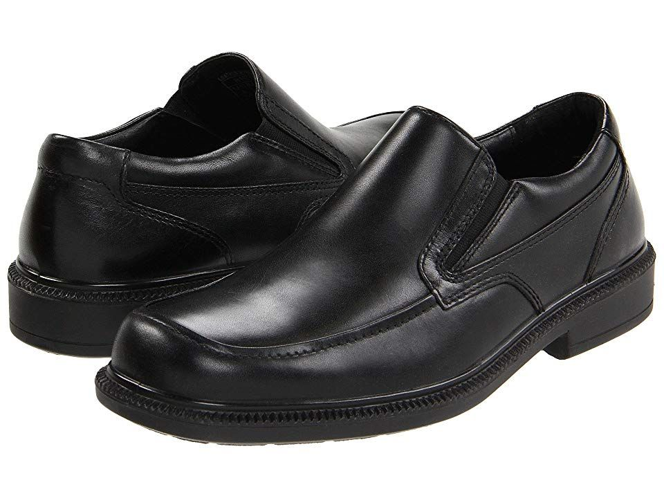 Hush Puppies Leverage Men's Shoes Black Leather Dress