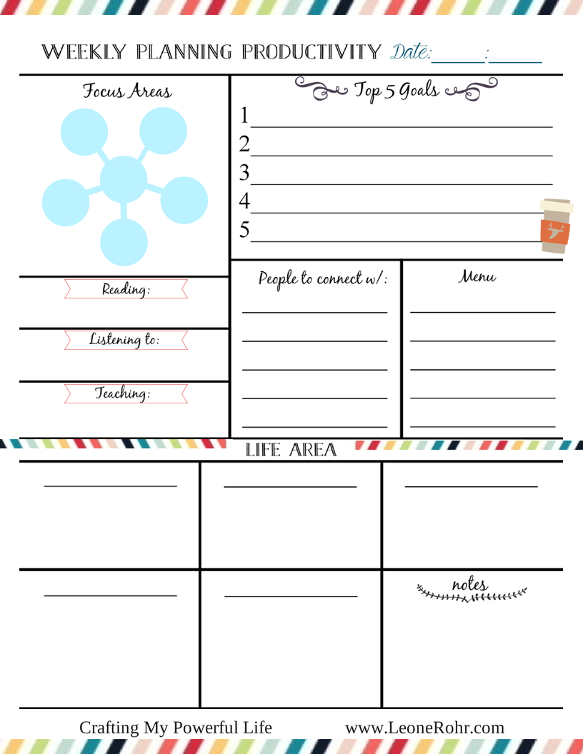 Freebie Friday Planner Printables  Weekly Planner Printable