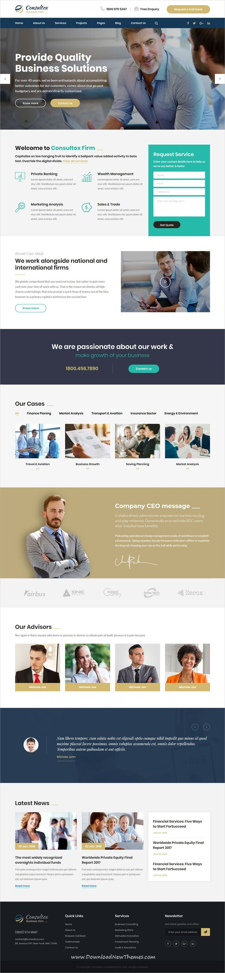 Consultox Consulting Business Wordpress Theme Business