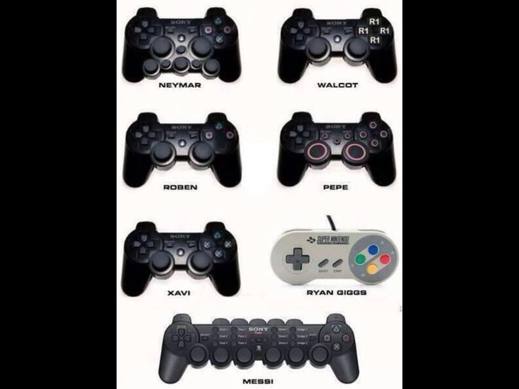 If Football Players Were Game Console Controllers Footy Jokes