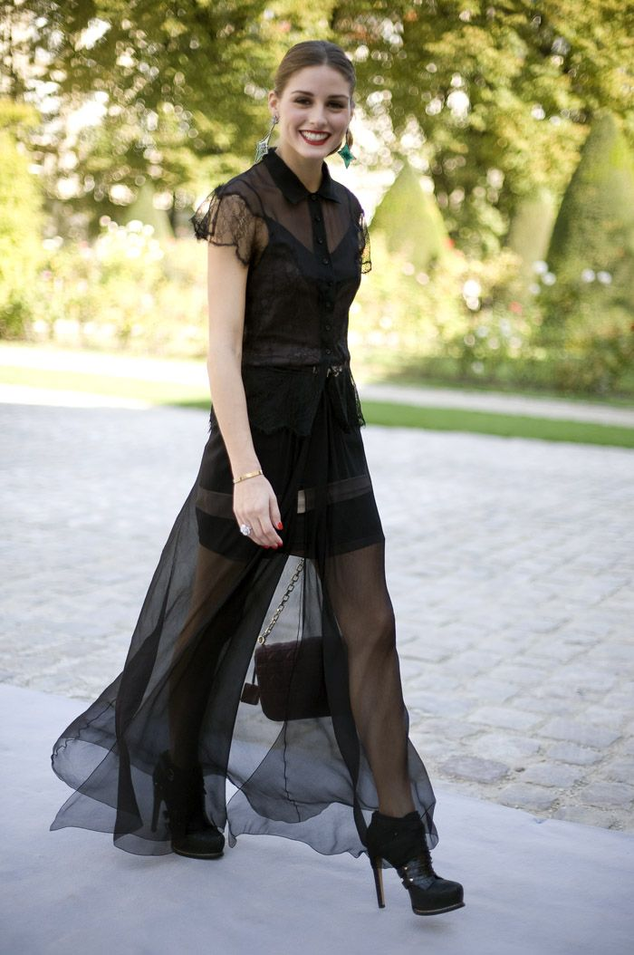 Sheer Black | Olivia Palermo at Christian Dior