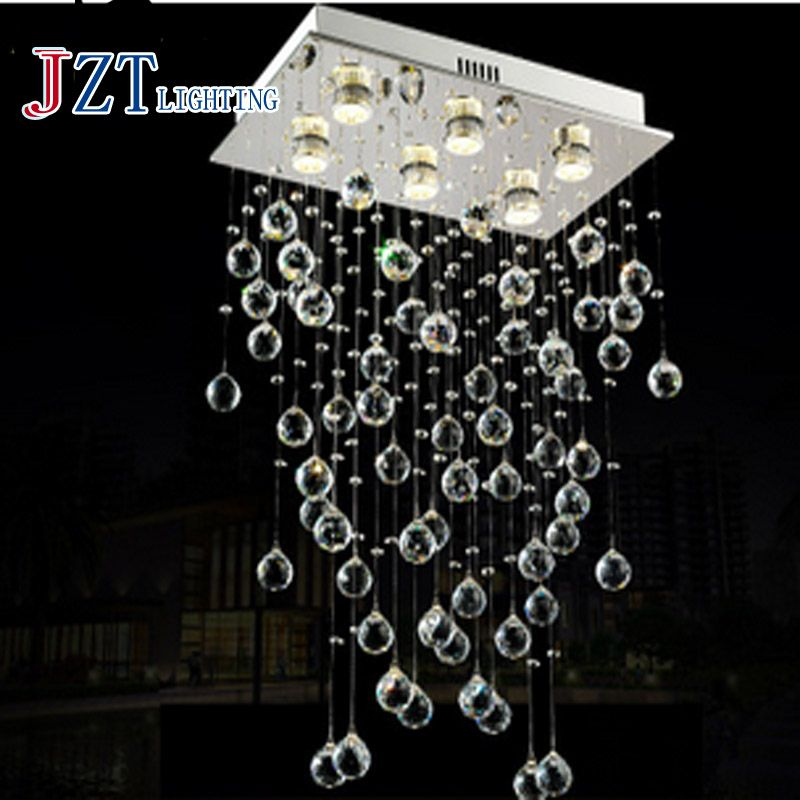 T Modern Best Price LED Lustre Crystal Light Foyer Dining Room Droplight Pandent Lamp