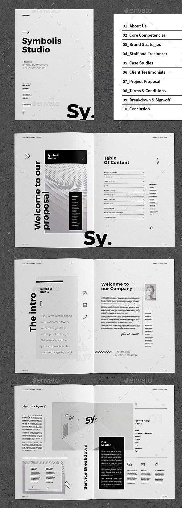 30+ InDesign Business Proposal Templates #editoriallayout