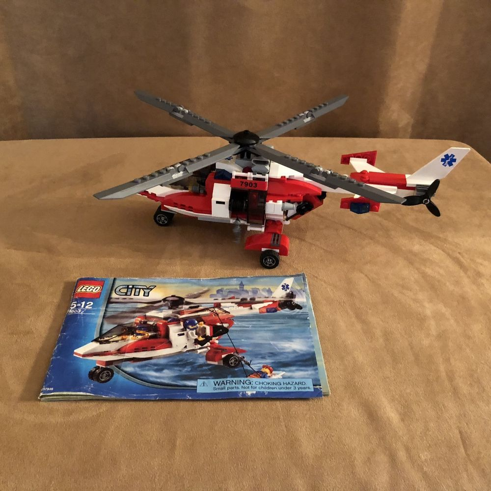 7903 Lego City Complete Emergency Rescue Helicopter Town