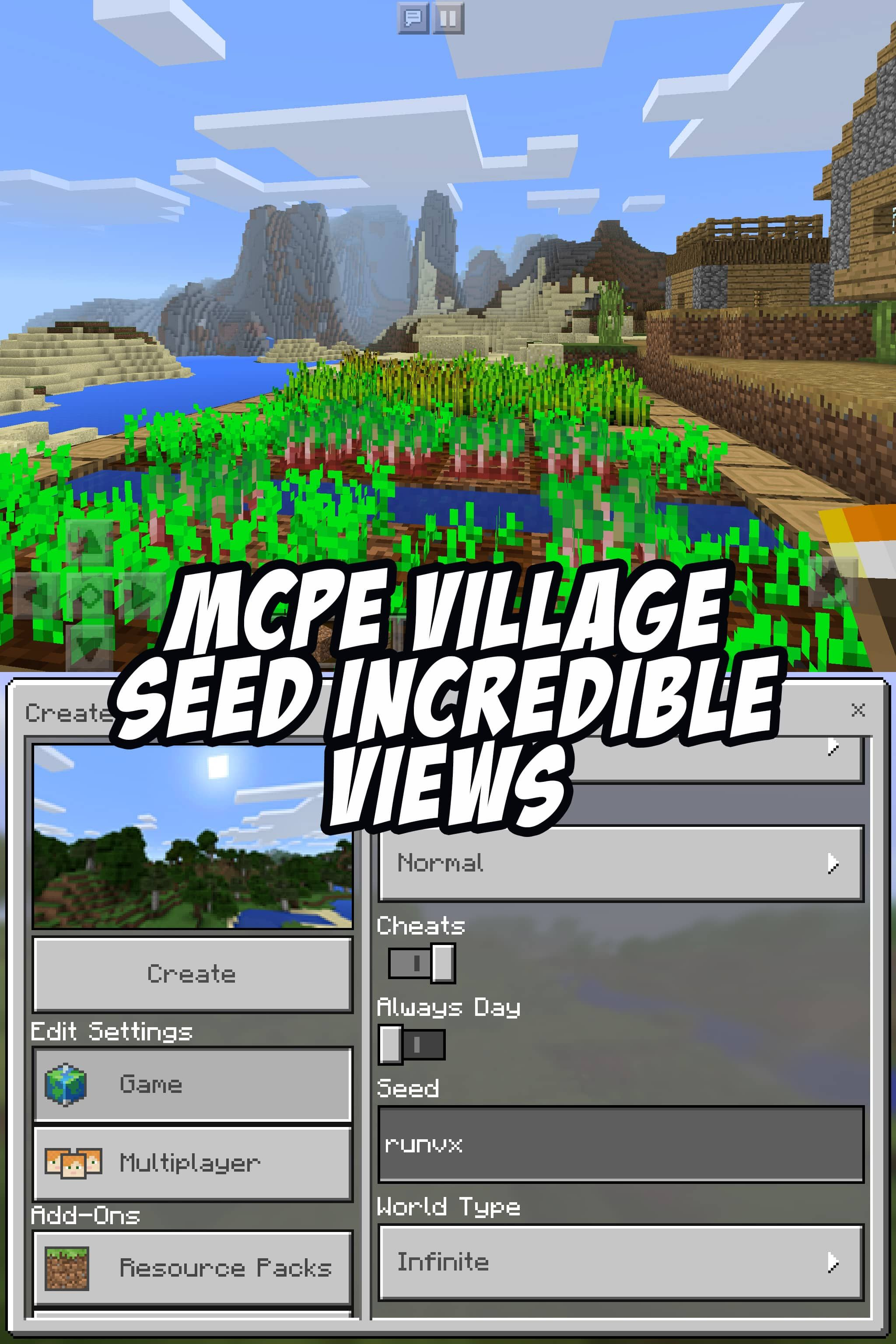 Check out this beautiful pocket edition seed runvx Minecraft PE