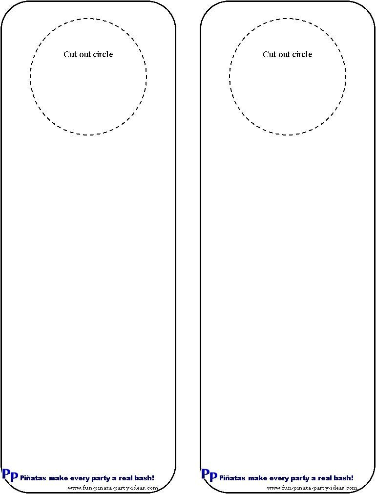Cool idea for diy door hangers Miscellaneous – Restaurant Door Hanger Template