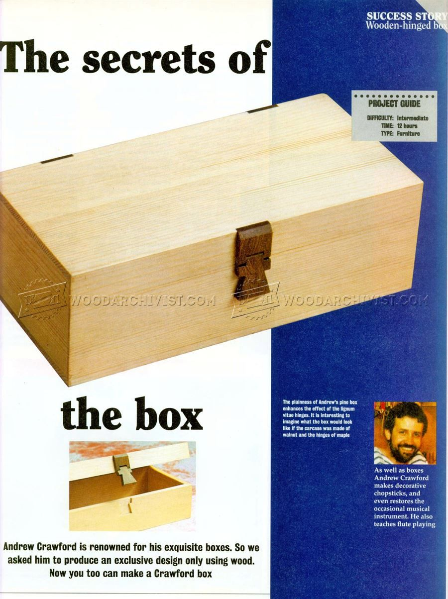 Wooden Hinged Box Plans - Woodworking Plans