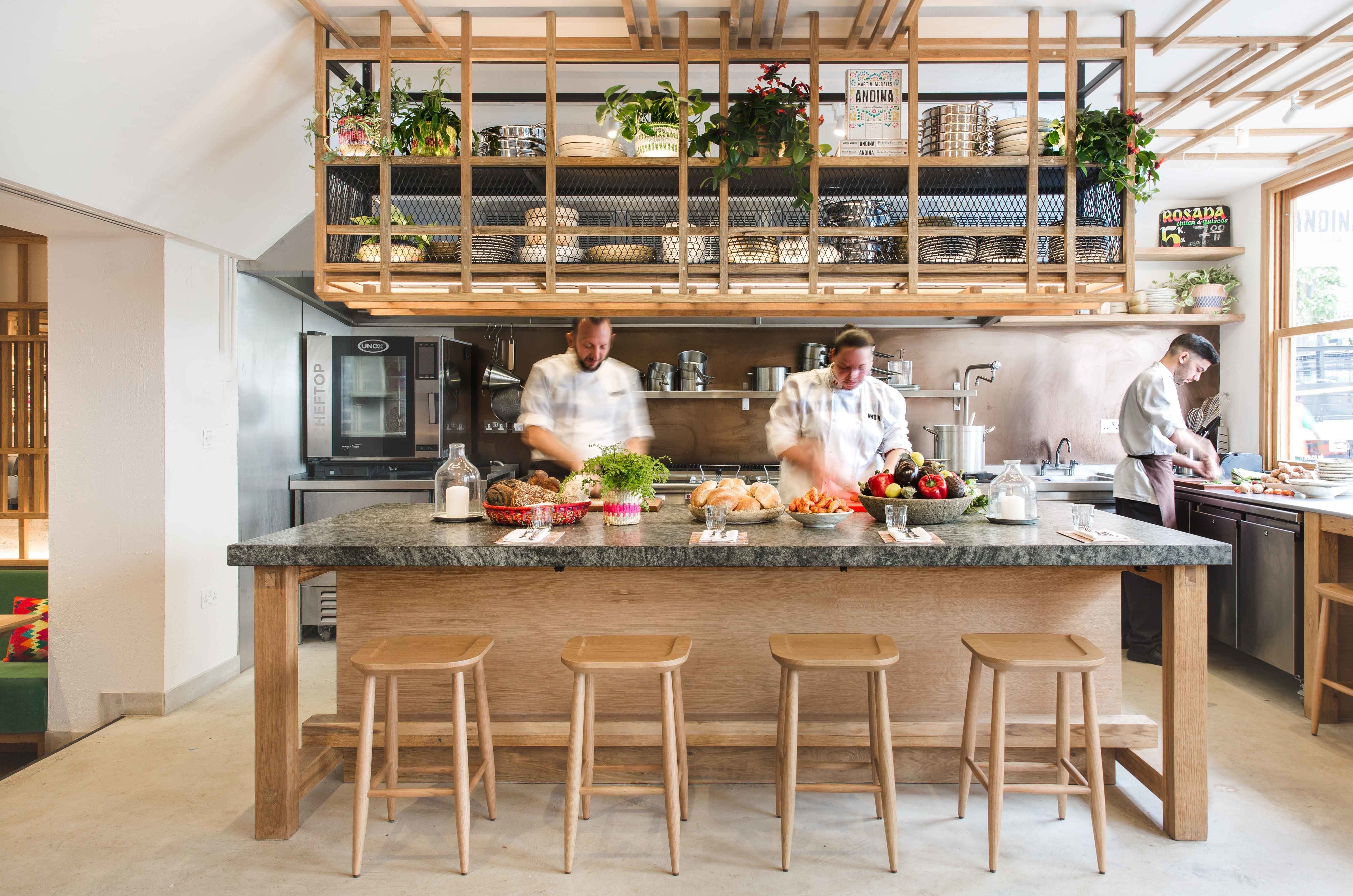 Andina Notting Hill Restaurant And Cafe Bakery Arch17 Traditional Kitchen Table Restaurant Interior Design Traditional Kitchen
