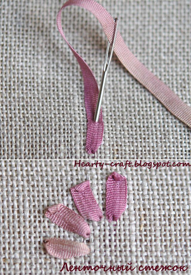 Ribbon stitch