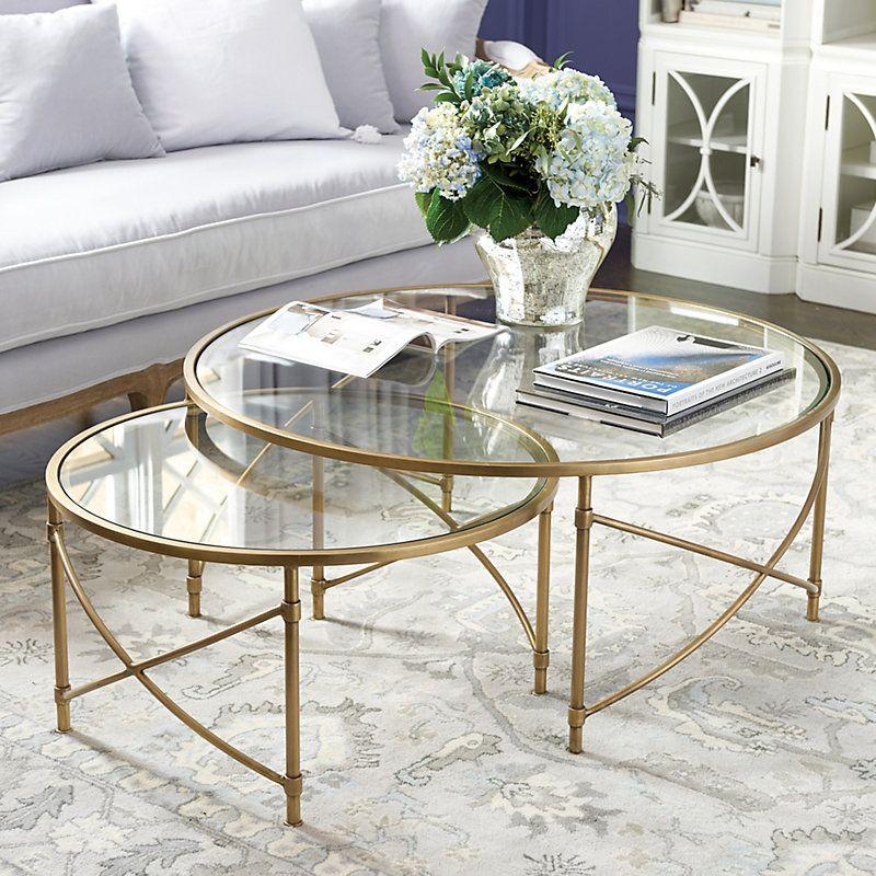 Best Set Of 2 Maxwell Nesting Coffee Tables Ballard Designs 400 x 300