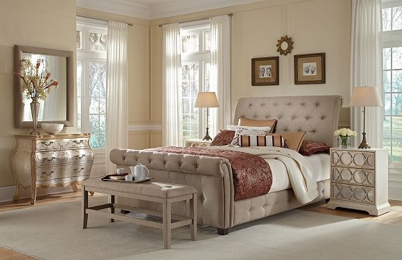 Maison Sand Bedroom Collection | Furniture.com-Queen Bed $699.99 ...
