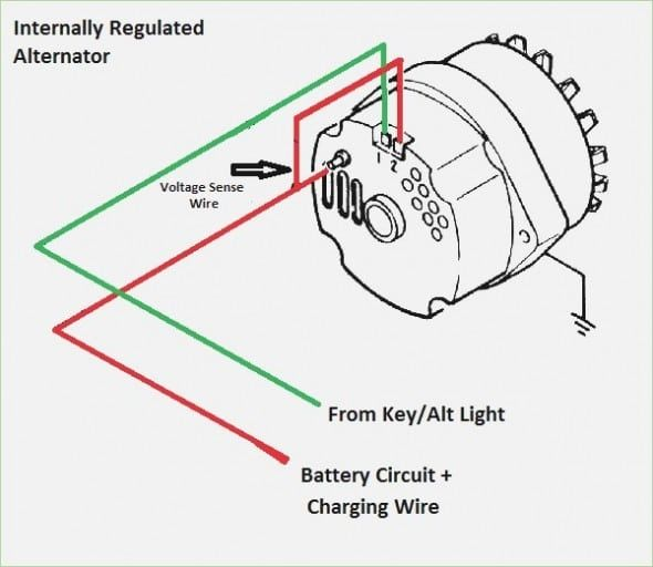 Single Wire Alternator Wiring Diagram In 2020 Alternator Diagram Wire