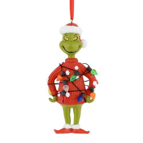department 56 grinch lights sweater ornament 4 inch httpwwwamazon cadpb00if3rzjirefcm_sw_r_pi_awdl_qw9swb18h1t53 - Grinch Christmas Decorations Amazon