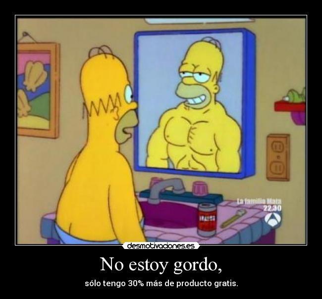 No Estoy Gordo Desmotivaciones Frases De Los Simpsons Frases De Motivacion Para Ejercitarse Chistes Borrachos