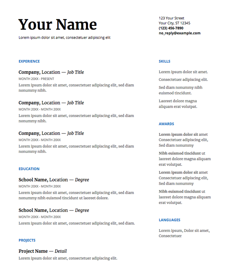 Our 5 Favorite Google Docs Resume Templates (and How to
