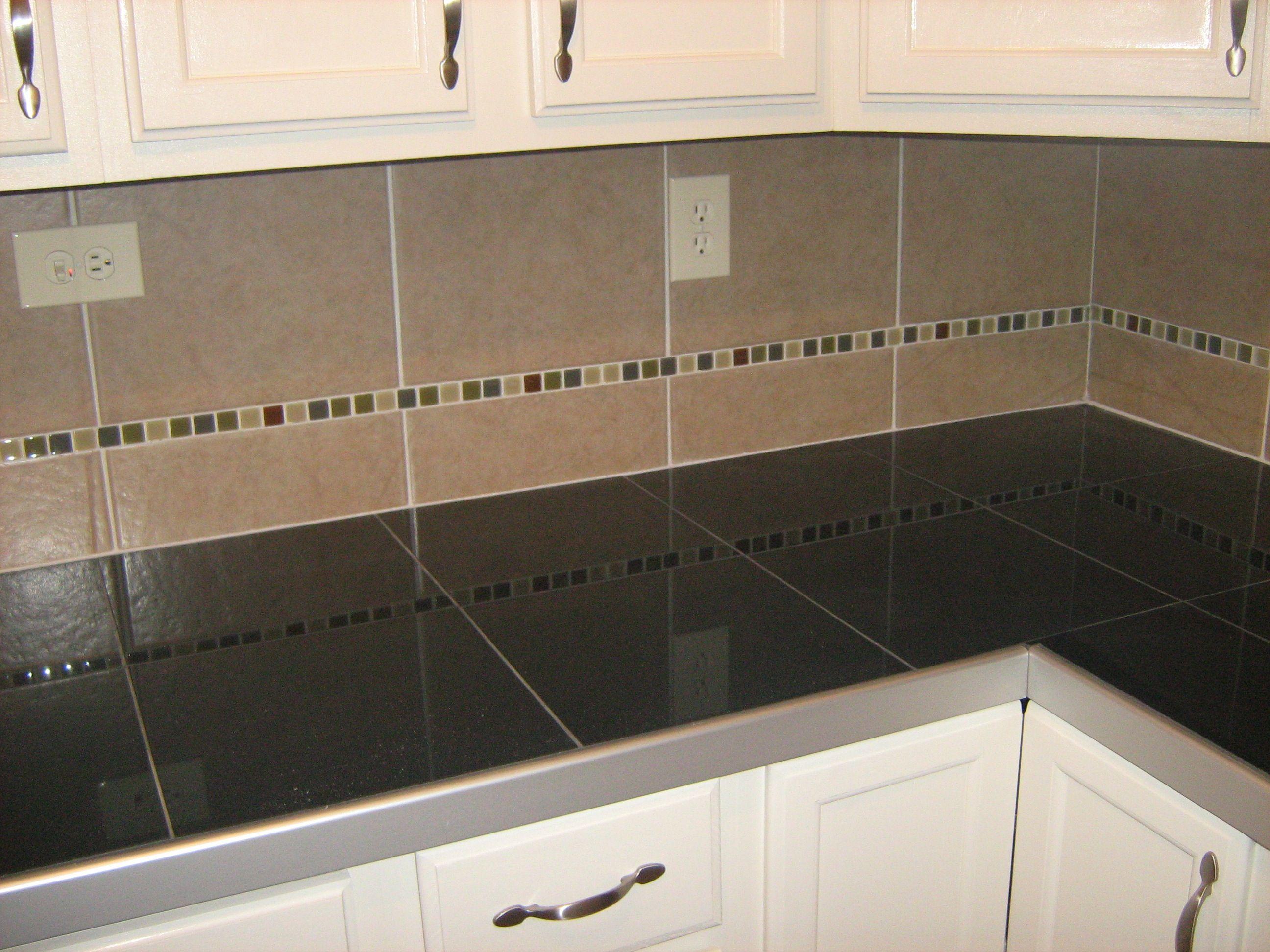 Black Granite Floor Tile Counter Top Tile Countertops Tile