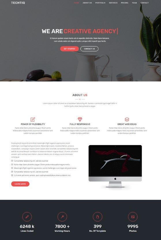 Download new Techtiq - Responsive Multipurpose Website HTML5 Template! This template suits for any type of portfolio, personal website, business, corporate, design studio etc. #html5businesstemplate #businesswebsitetemplate #designstudiowebsite  https://www.templatemonster.com/website-templates/techtiq-responsive-multipurpose-website-template-67611.html/