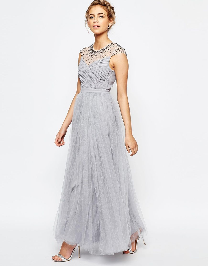 Long diamante dress