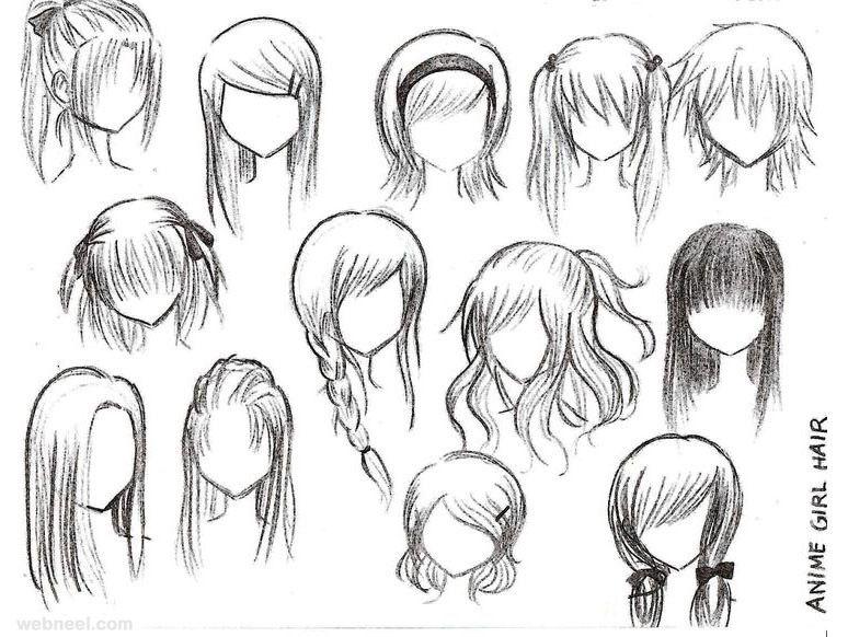 chibi hair lip human drawing anime www