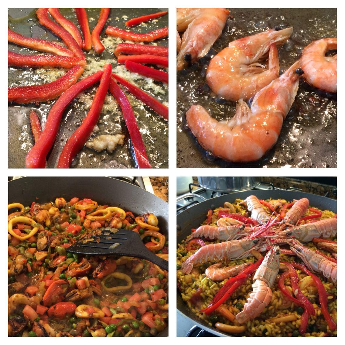 Preparo da #Paella