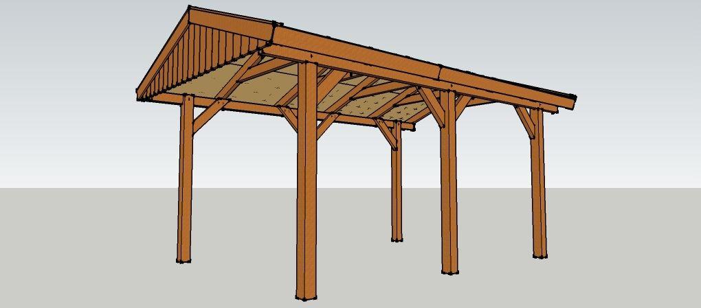 carport 3 x 5 meter mit satteldach aus holz zum selber. Black Bedroom Furniture Sets. Home Design Ideas