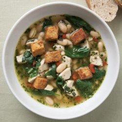 Chicken & Spinach Soup with Fresh Pesto - EatingWell.com
