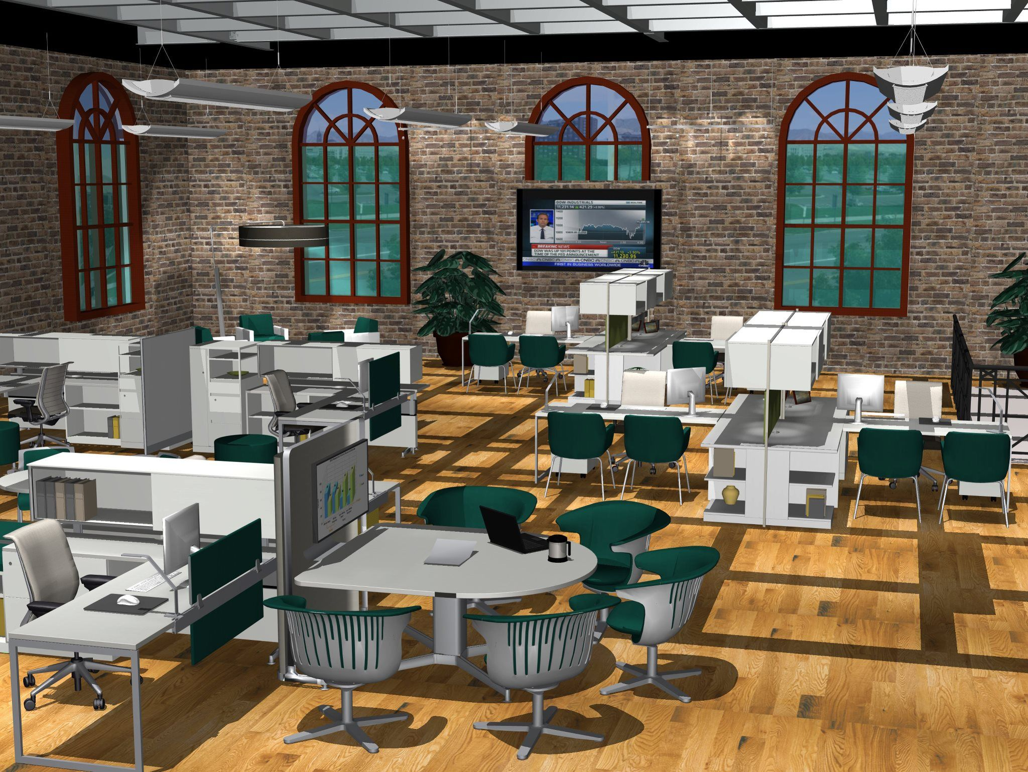 Captivating Second Place   Steelcase Midwest Commercial Interiorsu0027 Rendering Entry   By  Tami Shulson.