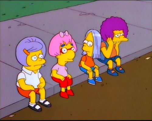 Simpsons Boys In Girly Wigs  Inappropriate  The Simpsons -2359
