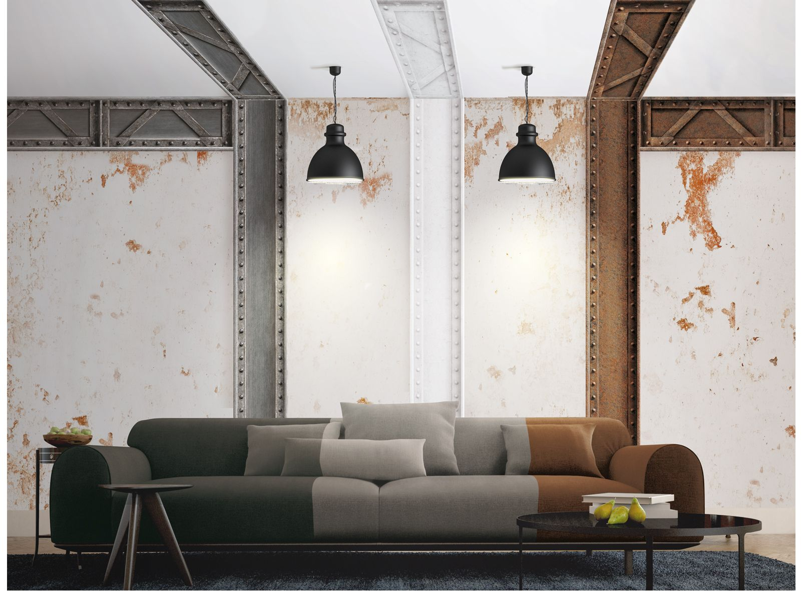 Steel Beam Wallpaper By Koziel Poutre Metallique Koziel Papier Peint