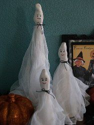 Cute Paperclay Ghosts