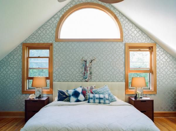 WOW! We how our Zamira stencil looks in the master bedroom of ... Master Bedroom Decorating Ideas Ecclectic Html on