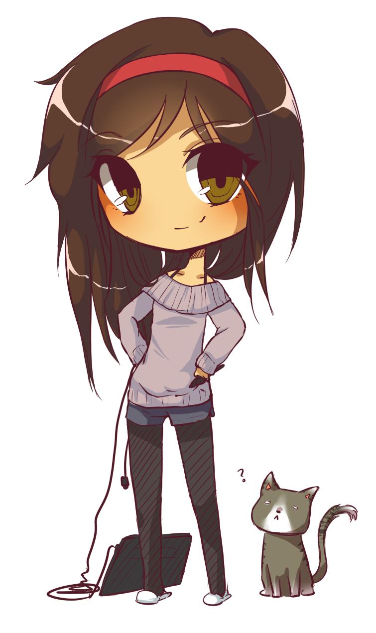 chibi girl Chibi Gravi by Dragoongirl Chibi cat