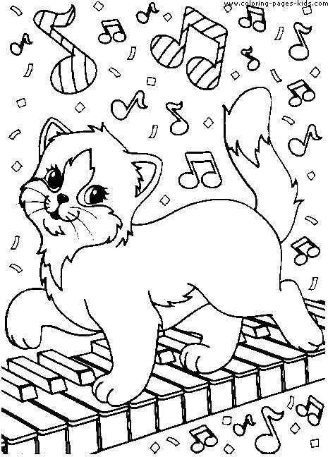 Cat Color Page Animal Coloring Pages Plate Sheetprintable Picture