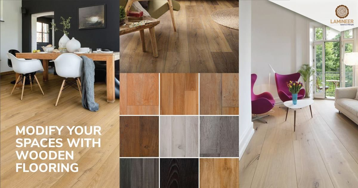Wooden floors by Lamineer are characterized by unique