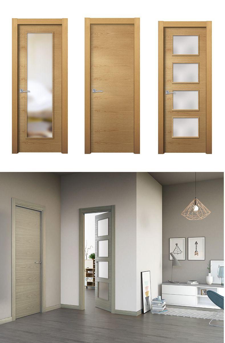Puerta praga madera clara puertas de interior for Modelos de puertas de madera modernas