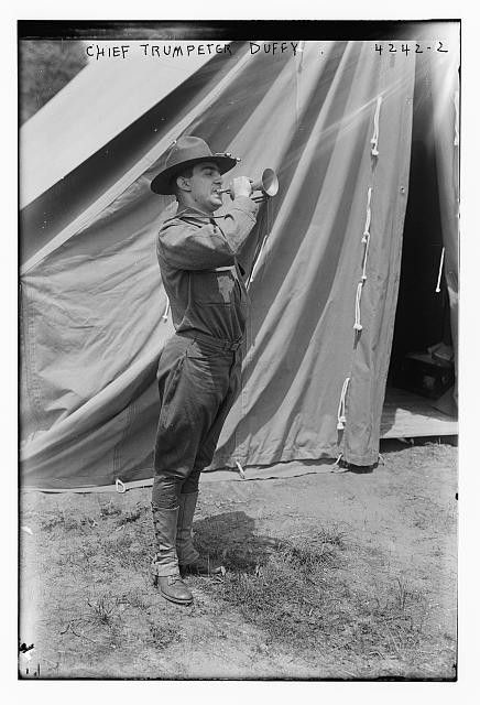 Photo of Chief Trumpeter Duffy Number 11373 Vintage 23331