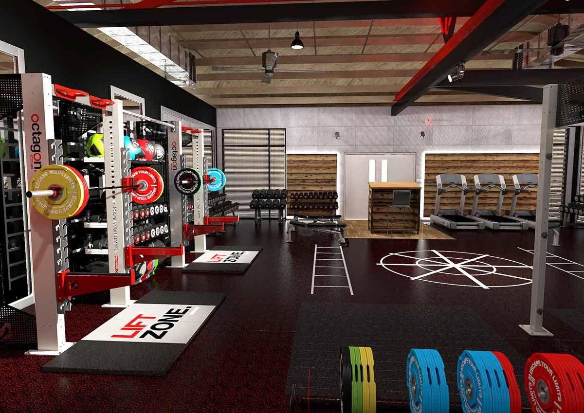 Commercial Gym Design Concepts Escape Fitness In 2021 Gym Design Interior Commercial Gym Design Gym Design