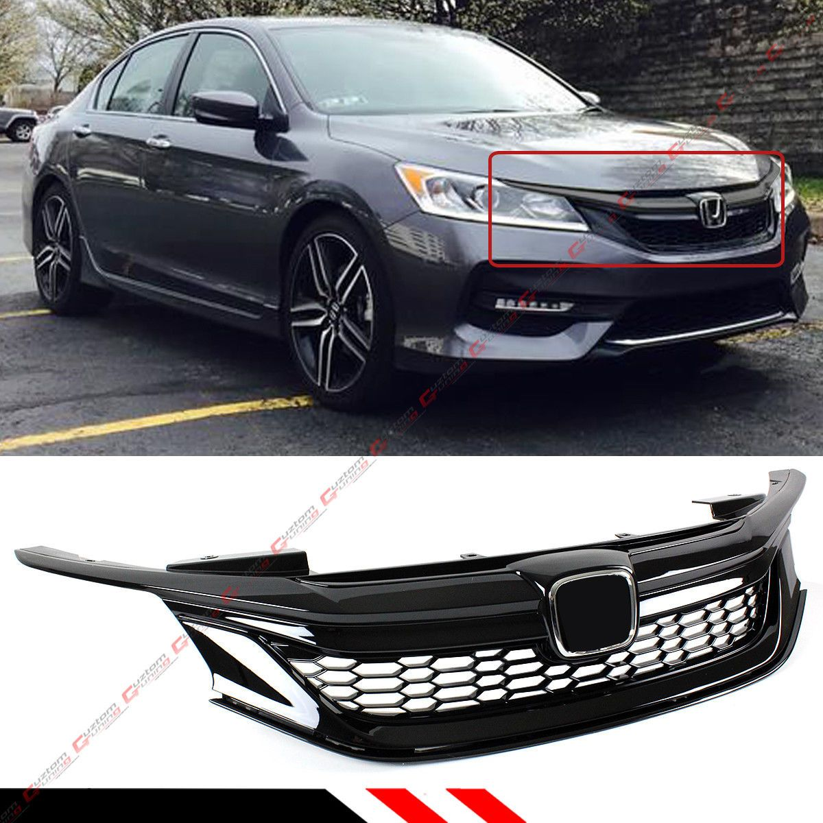 Nice Awesome For 2016 17 9th Gen Honda Accord Sedan Gloss Black Out Sport Style