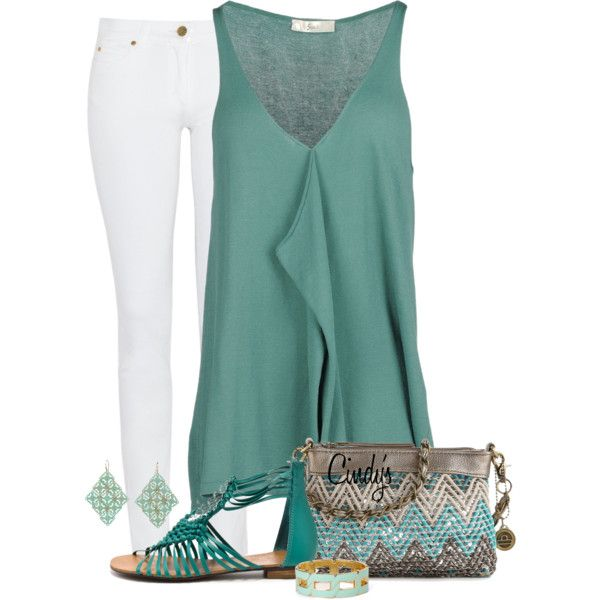 Teal outfit - love the top & purse