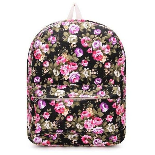 Cute Flower Floral Bag Vintage Women Backpack (€10) ❤ liked on Polyvore featuring bags, backpacks, vintage floral bag, vintage bag, floral print backpack, flower backpack i flower bag